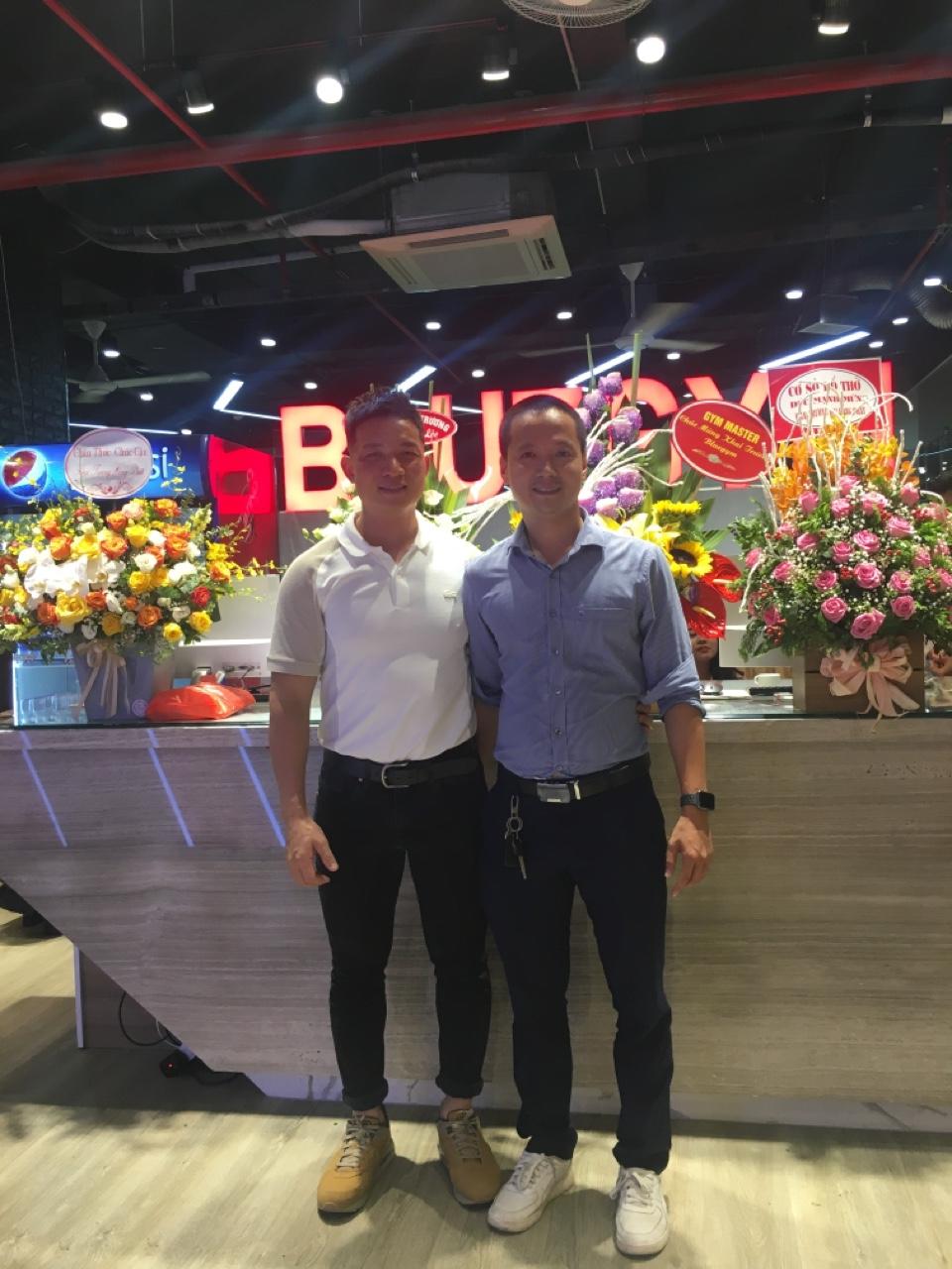 Gym Master tại buổi khai trương Blue Gym Hà Đông