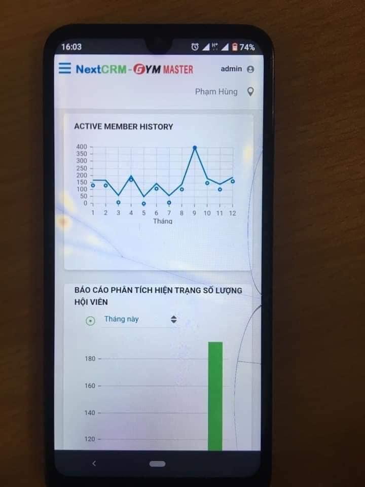 Phần mềm Gym tích hợp Mobile App hội viên