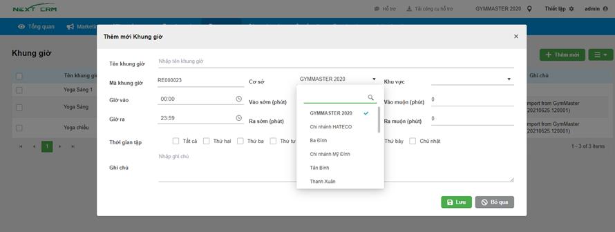 Triển khai phần mềm quản lý GymMaster cho YAP Gym&Yoga