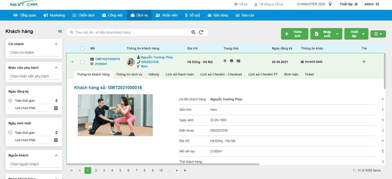 Phần mềm Gym – Quản lý hội viên